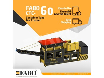 FABO CTC-60 CONTAINER TYPE JAW CRUSHER - дробарка