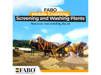 FABO FULLSTAR-60 MOBILE JAW + CONE CRUSHER | 60-100 TPH - дробарка