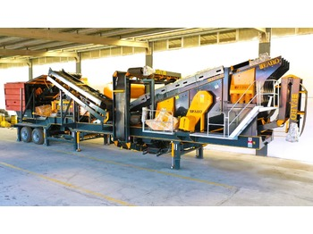 FABO MVSI 900 MOBILE VERTICAL SHAFT IMPACT CRUSHING SCREENING PLANT - дробарка