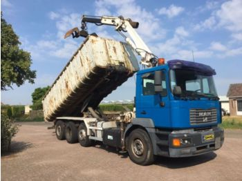 MAN 35.414 18 t/m Crane, Manual, tipper, container - самоскид вантажівка