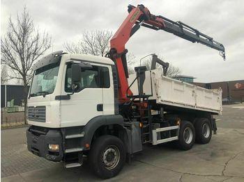 Самоскид вантажівка MAN TGA 26.390 6X4 MANUAL FULL STEEL + PALFINGER PK2